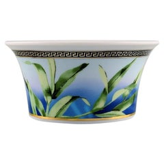 """Gianni Versace for Rosenthal. """"Jungle"""" Porcelain Bowl with Gold Decoration"""