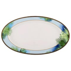 "Gianni Versace for Rosenthal, Large ""Jungle"" Serving Dish with Gold Decoration"