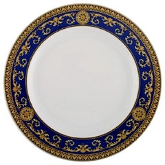 Gianni Versace for Rosenthal, Medusa Blue Plate in Porcelain, Late 20th Century