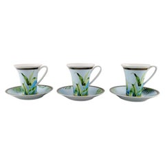 "Gianni Versace for Rosenthal, Three ""Jungle"" Coffee Cups with Saucer"