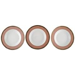 Gianni Versace for Rosenthal, Three Russian Dream Deep Porcelain Plates
