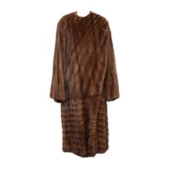 Gianni Versace Full-Length Mink Fur Coat