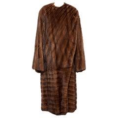 Gianni Versace Full-Length Mink Fur Coat