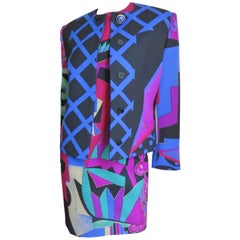 Gianni Versace Colorful Dress and Jacket A/W 1991