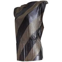 Gianni VERSACE Haute Couture titanium silver kaftan Gianni's Unique - Unworn