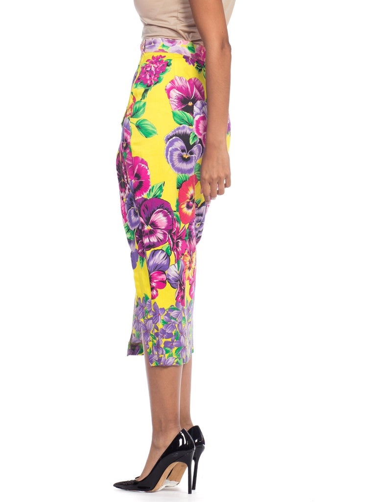 Gianni Versace High Slit Skirt With Versus Sheer Blouse Set For Sale 9