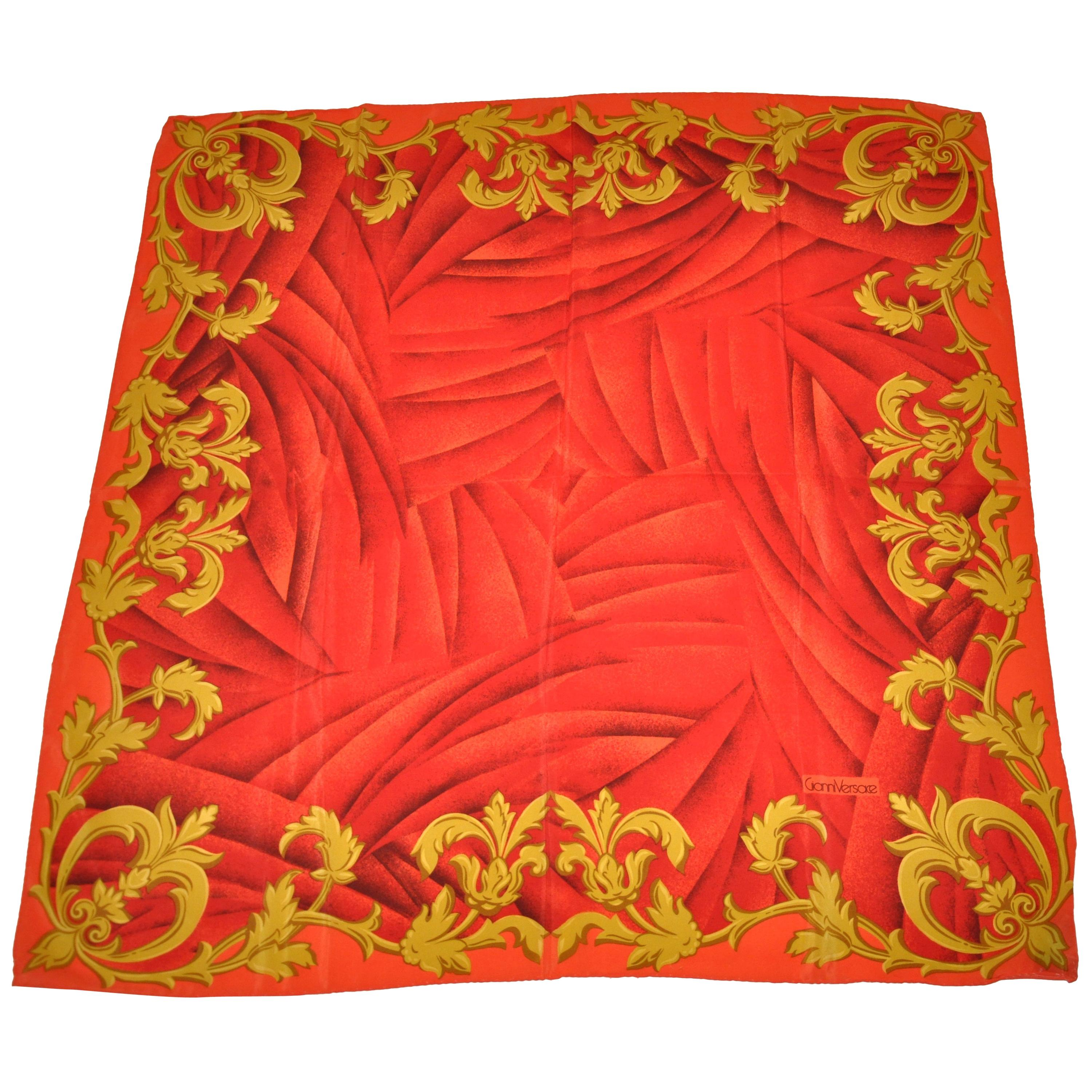 Gianni Versace Iconic Signature Whimsical Silk Scarf