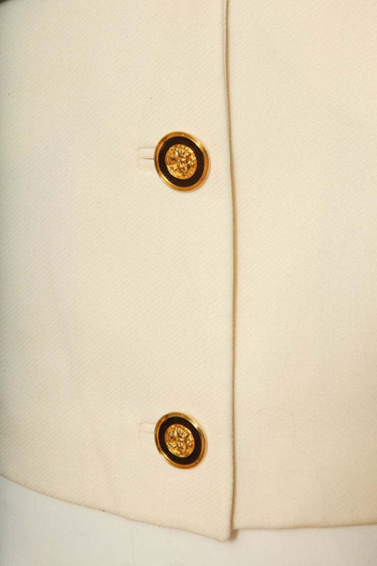 Women's Gianni Versace Jacket with Medusa Buttons For Sale