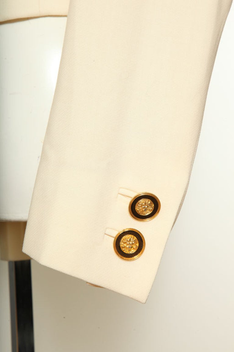 Gianni Versace Jacket with Medusa Buttons 2