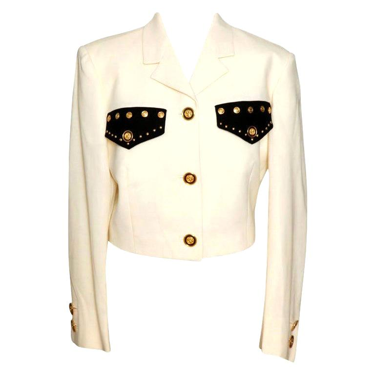 Gianni Versace Jacket with Medusa Buttons For Sale