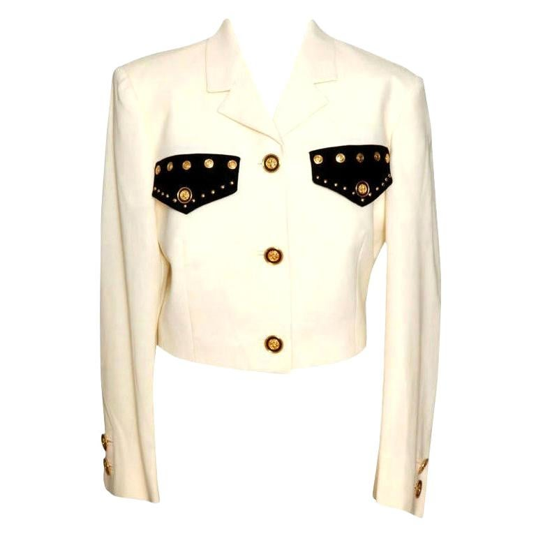 Gianni Versace Jacket with Medusa Buttons