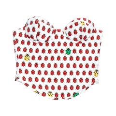 Gianni Versace ladybug printed silk bustier corset, ss 1995