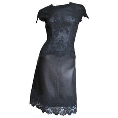 Gianni Versace Leather and Lace Dress