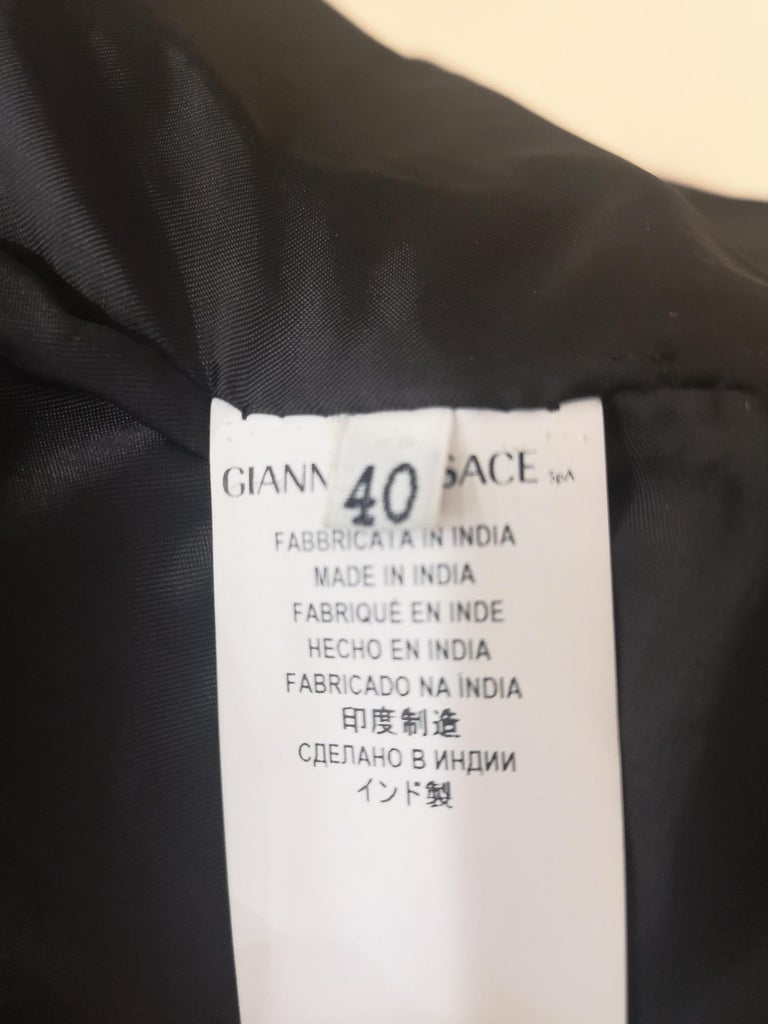 Gianni Versace Leather Coat For Sale 5