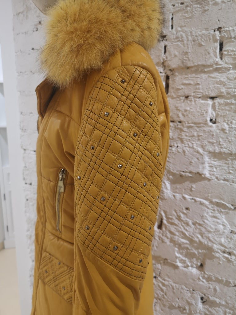 Gianni Versace Leather Coat For Sale 6