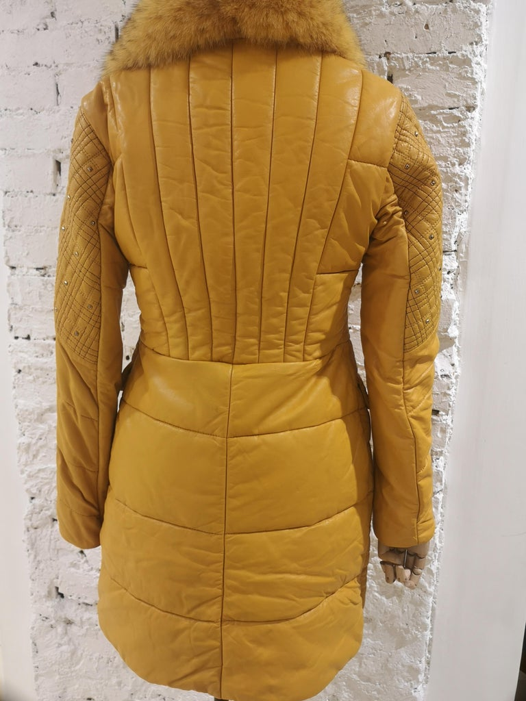 Gianni Versace Leather Coat For Sale 7