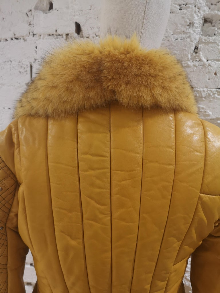 Gianni Versace Leather Coat For Sale 10