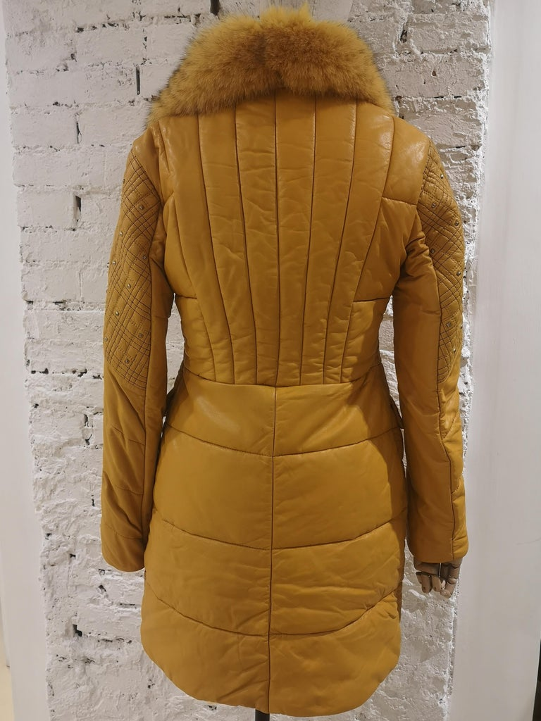 Gianni Versace Leather Coat For Sale 12