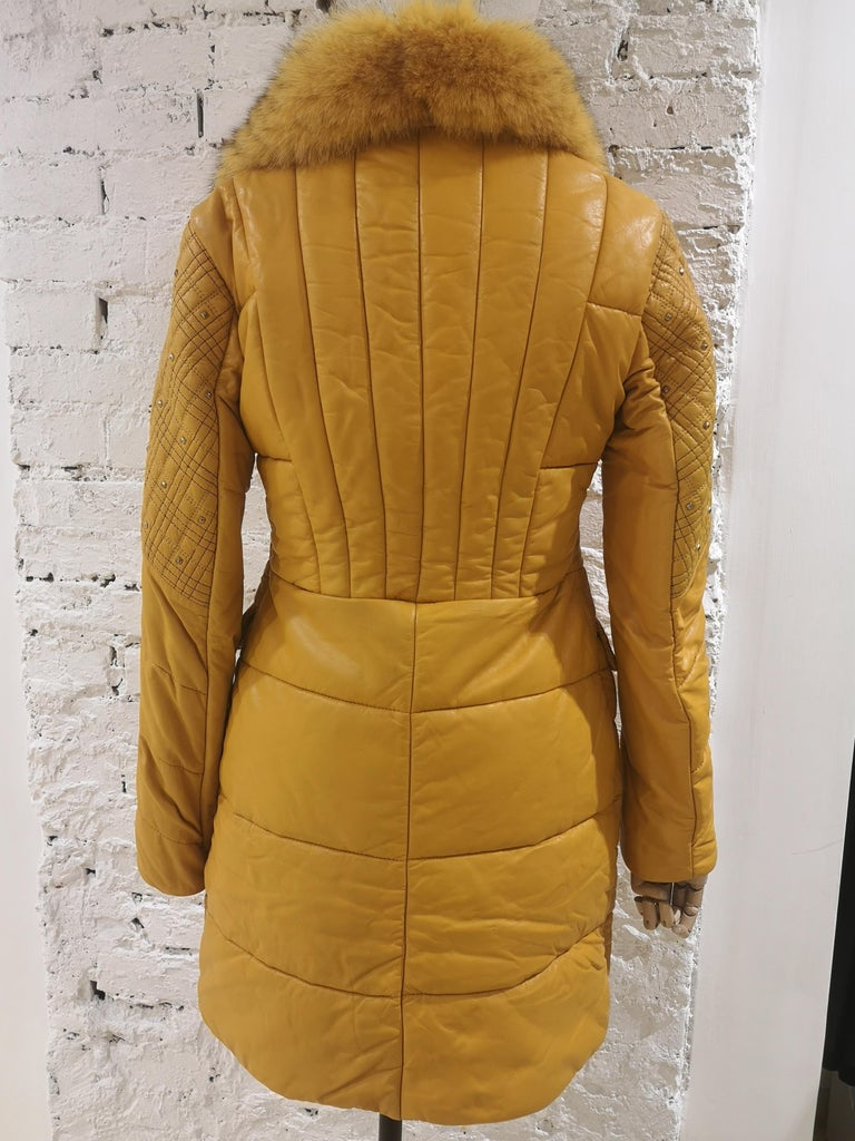 Gianni Versace Leather Coat For Sale 13