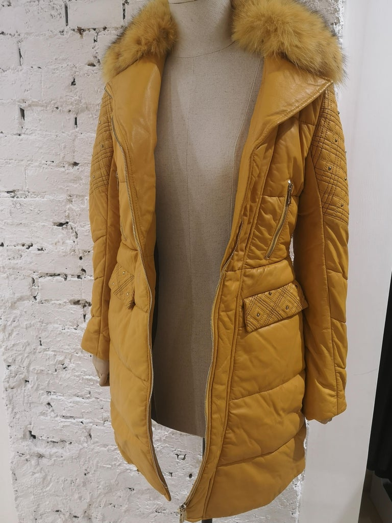 Gianni Versace Leather Coat For Sale 14