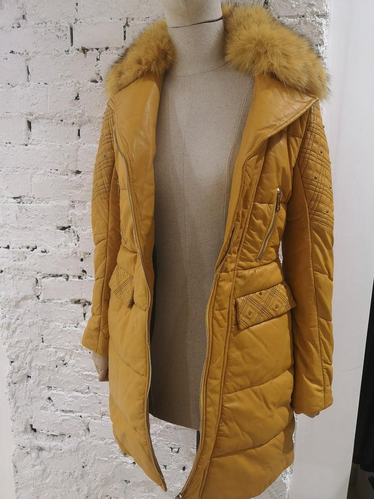 Gianni Versace Leather Coat For Sale 15