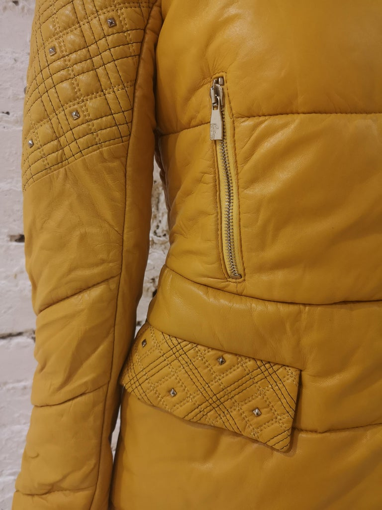 Women's Gianni Versace Leather Coat For Sale