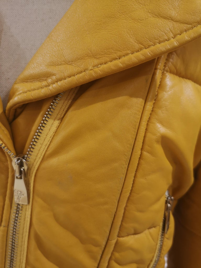 Gianni Versace Leather Coat For Sale 1