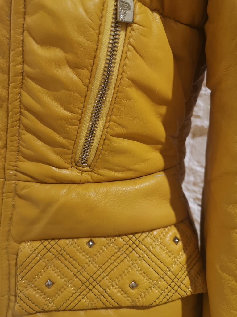 Gianni Versace Leather Coat For Sale 3