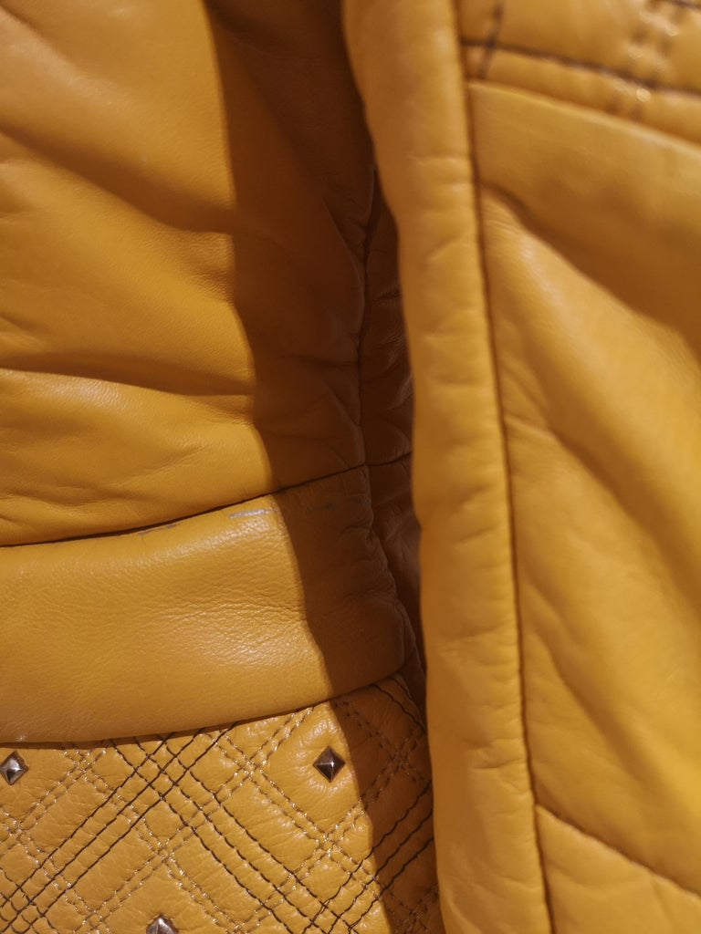 Gianni Versace Leather Coat For Sale 4