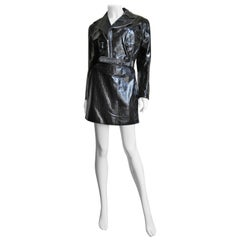 Gianni Versace Leather Motorcycle Jacket and Skirt