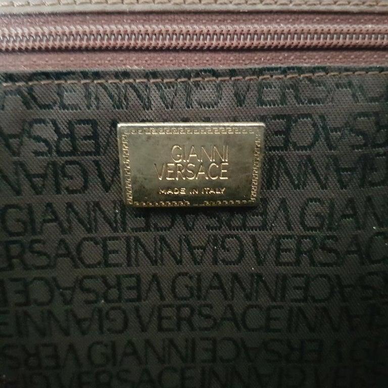 Gianni Versace Leather Vintage Bag For Sale 2