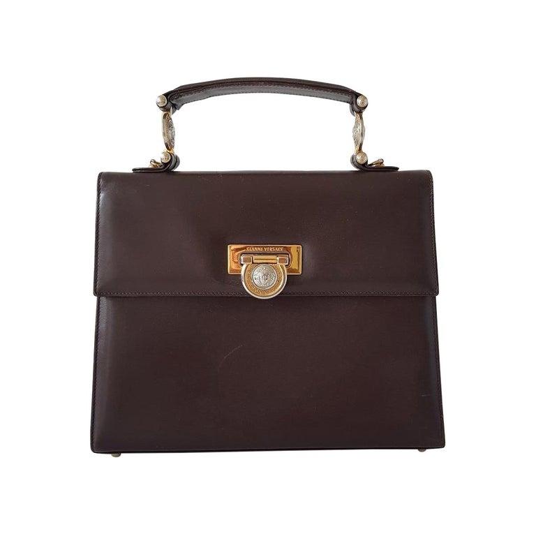 Gianni Versace Leather Vintage Bag For Sale