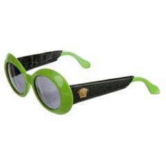 Gianni Versace Lime Green Oval Sunglasses