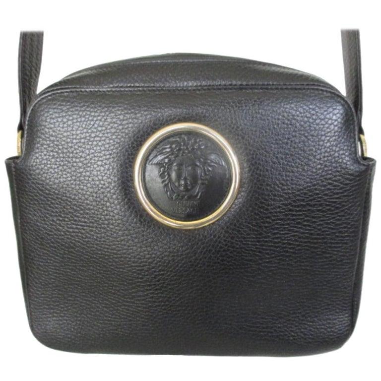 05f38cf535 Gianni Versace Medusa Black bag