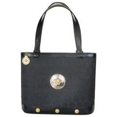 Gianni Versace Medusa Black Hand Bag