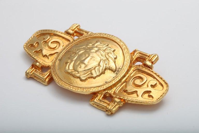 Very rare Gianni Versace Medusa motif brooch.