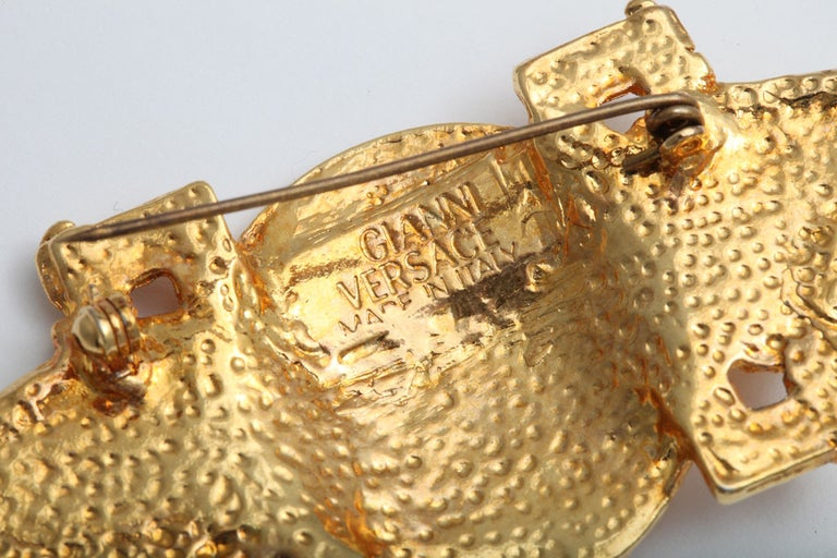 Women's or Men's Gianni Versace Medusa Brooch For Sale