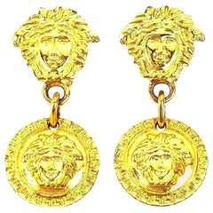 Gianni Versace Medusa Earrings Gold