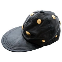 Gianni Versace Medusa Leather Baseball Cap