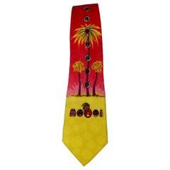 Gianni Versace Miami Silk Tie