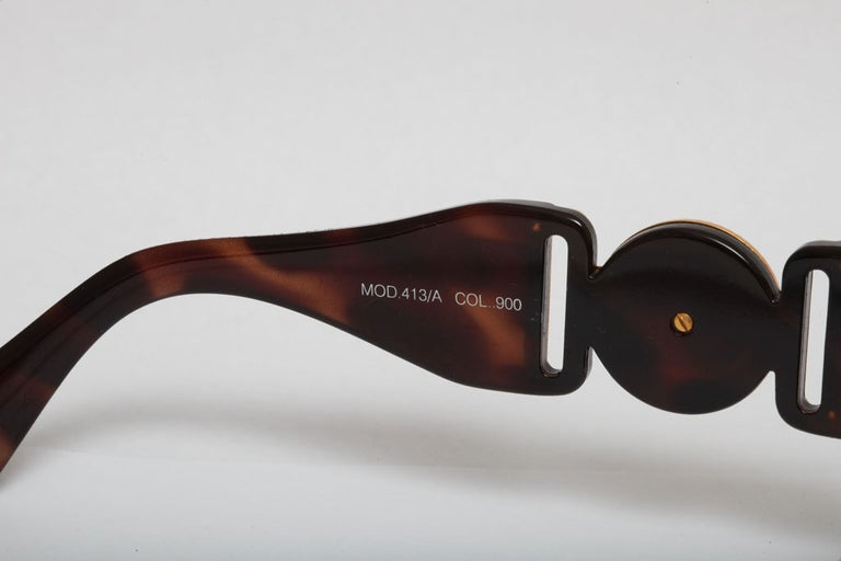 Gianni Versace Mod 413/A Brown Vintage Sunglasses  1