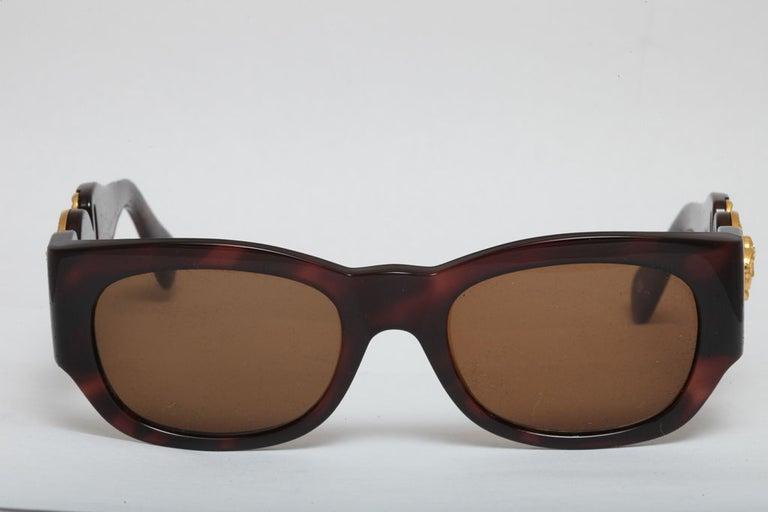 Gianni Versace Mod 413/A Brown Vintage Sunglasses  2