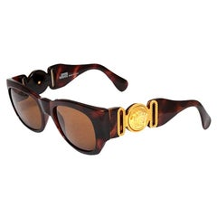 Gianni Versace Mod 413/A Brown Vintage Sunglasses