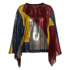 Gianni Versace multicoloured oroton metal chainmail evening tunic, fw 1984