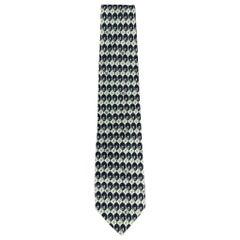 GIANNI VERSACE Navy Print Silk Tie