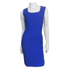 Gianni Versace Net Shoulders Bodycon Dress