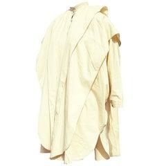 "Gianni VERSACE ""New"" Beige Layers Couture Vintage Mackintosh Raincoat - Unworn"