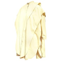 "Gianni VERSACE ""New"" Beige Layers Couture Vintage Mackintosh Raincoat - Unworn"