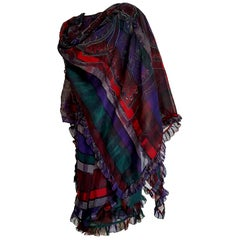 "Gianni VERSACE ""New"" Couture Unique Design Blouse Skirt Scarf Shawl Silk- Unworn"