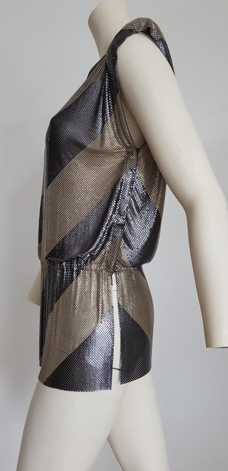 Gianni VERSACE Haute Couture titanium silver kaftan dress. Gianni's single piece unique design - Unworn, New.  SIZE: equivalent to about Small / Medium, please review approx measurements as follows in cm: lenght 70, chest underarm to underarm 90,